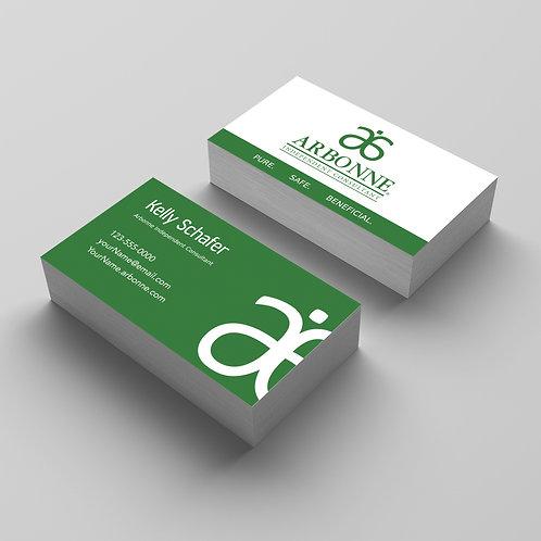 Arbonne business card green