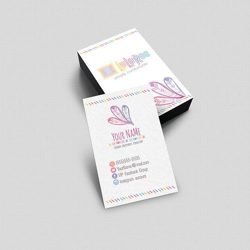 Lularoe business card Boho feather
