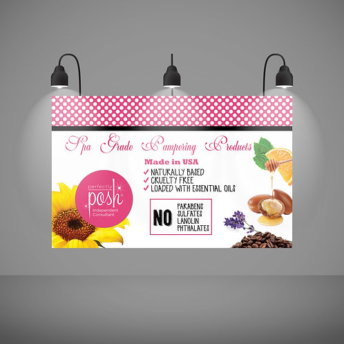 Spa pampering perfectly posh banner