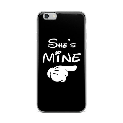 Couple Iphone case set- She's Mine and He's Mine- iPhone Case