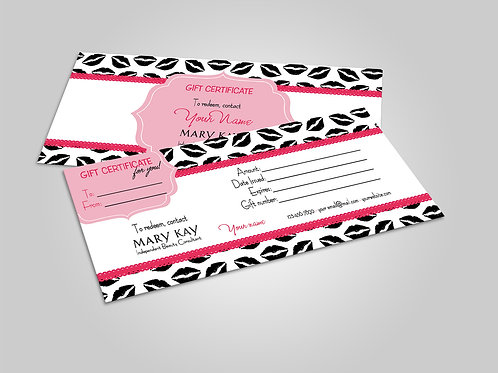Mary Kay Gift Certificate Lips