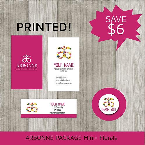 Mini marketing package Arbonne floral printed