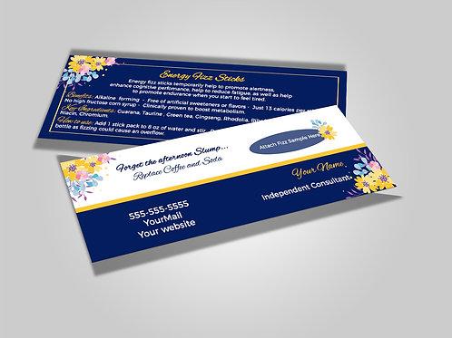 Arbonne fizz stick card Floral