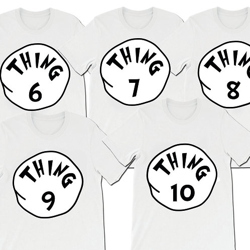 Thing 6 Thing 7 Thing 8 Thing 9 Thing 10 matching t-shirts digital download
