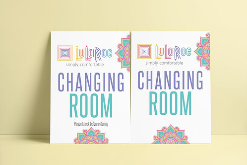 Changing room sign Lularoe Mandala