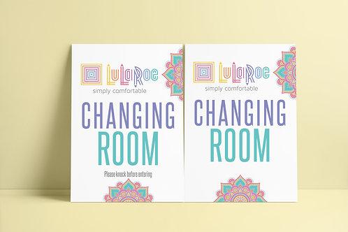Changing room sign Lularoe Mandala