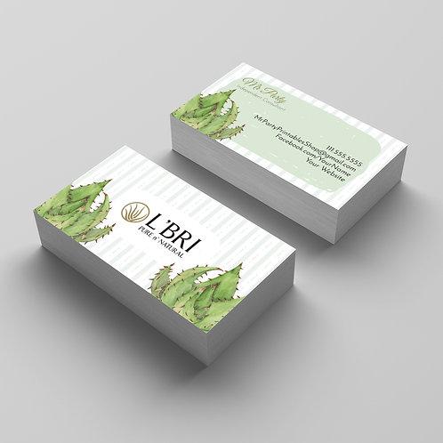 L'Bri Business card watercolor