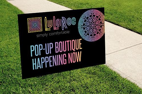 Lularoe Pop-up rainbow mandala yard sign