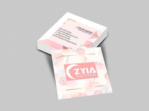 Zyia square business card Femenine card