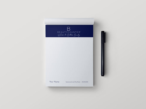 BeautyCounter custom notepad