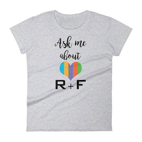 Ask me about R+F t-shirt heather grey