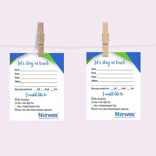 Norwex customer contact card
