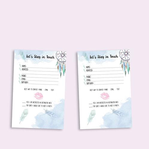 Customer contact card Lipsense Boho