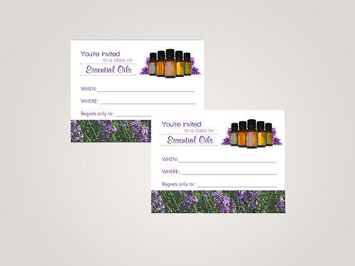 Essential class invitation doterra lavender field
