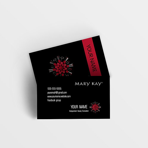 Mary Kay business card black