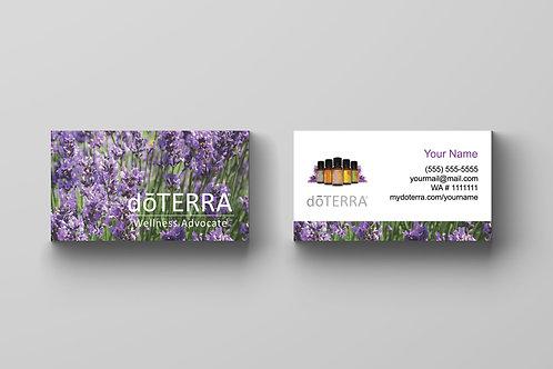 doTerra business card vertical lavender