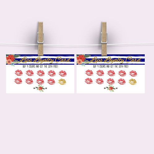 Lipsense loyalty card punch card