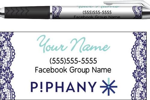 Piphany business pen blue lace