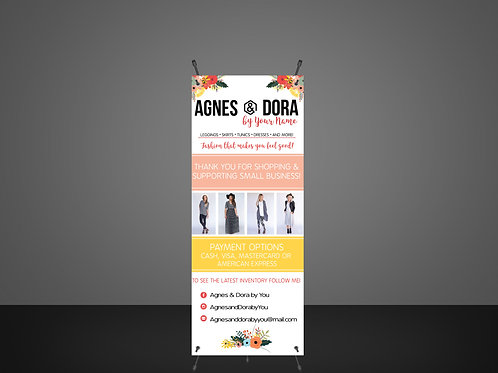 Agnes & Dora banner payment and Thank you