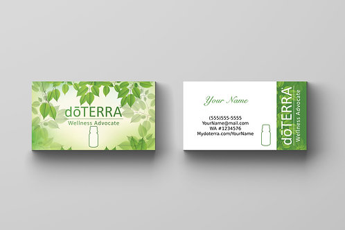 doTerra business card leaves