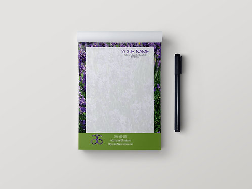 Arbonne Stationary notepad lavender