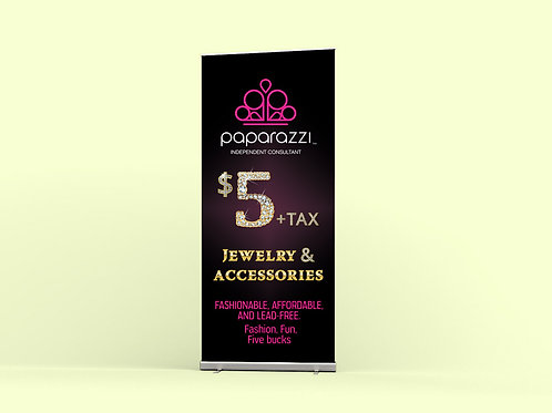 Paparazzi accesories roll-up banner