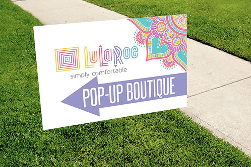Lularoe Pop up boutique mandala yard sign
