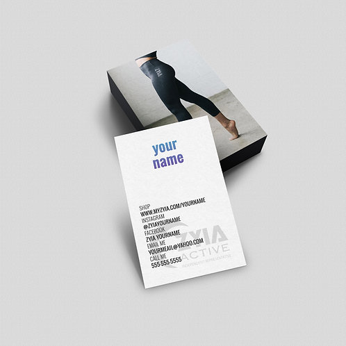 Zyia leggings Active wear Business card