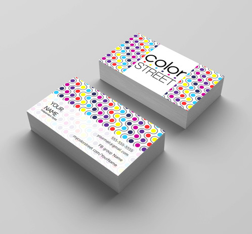 Color street nails business card colorful dots kakao designs color street nails business card colorful dots kakao designs digital and printed marketing material direct sales reheart Gallery