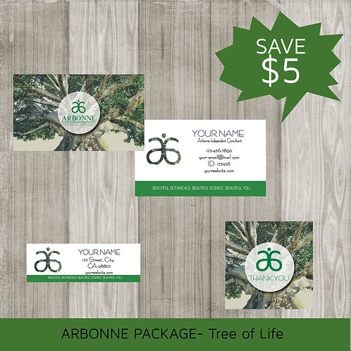 Mini marketing package Arbonne tree of life