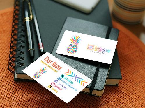 Lularoe business card pineapple black