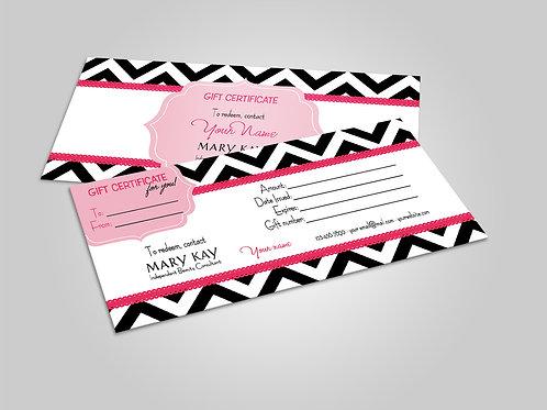 Mary Kay Gift Certificate Chevron