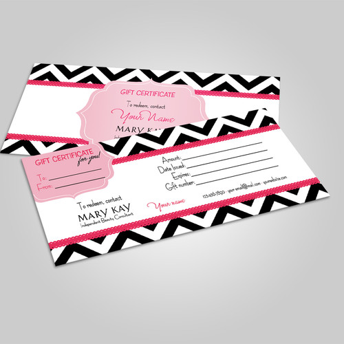 Gift certificates kakao designs mary kay gift certificate chevron negle Choice Image