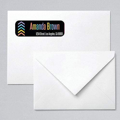 Lularoe return address labels  chevron rainbow arrow