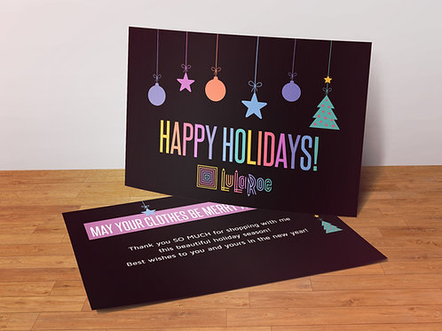 Happy Holidays Lularoe Postcard