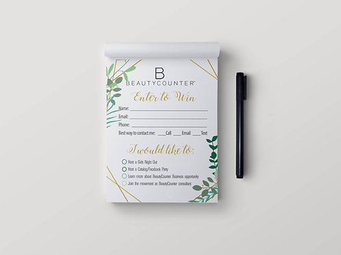 BeautyCounter notepad- Stay in touch