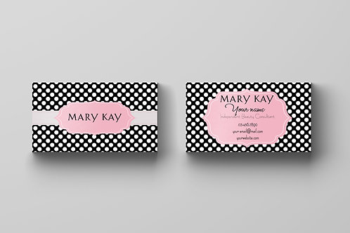 Mary Kay business Black polka dots