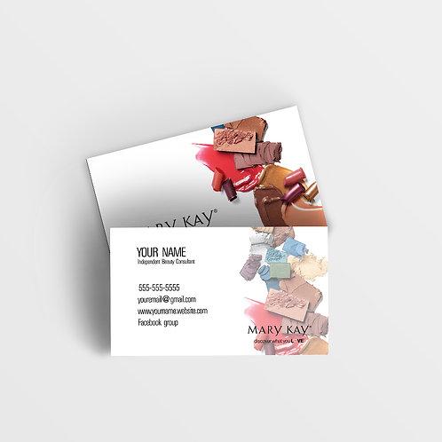 Mary Kay business card makeup