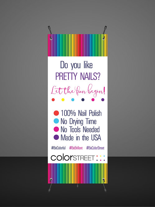 Color Street Vendor banner Instant Download