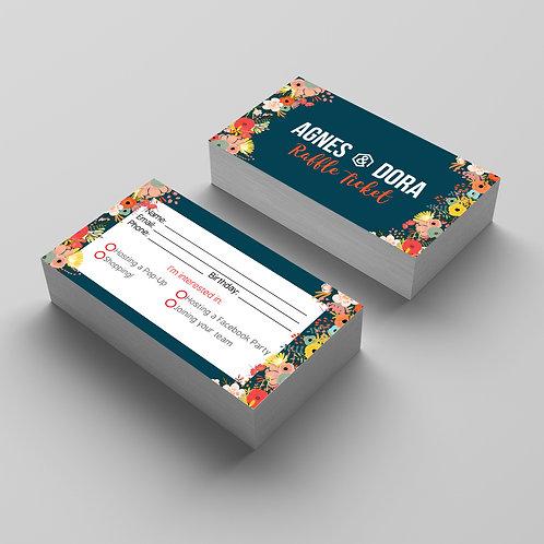 Agnes & Dora - Raffle Ticket - Digital - Floral 01