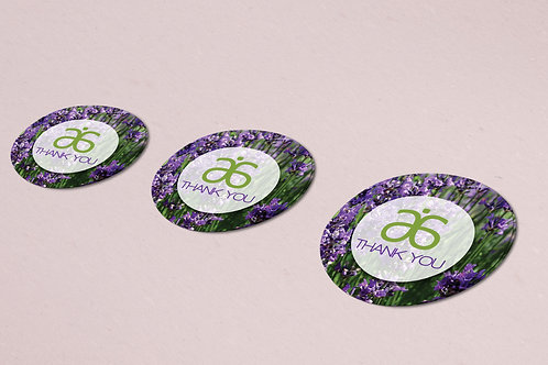 Arbonne Thank you sticker Lavander