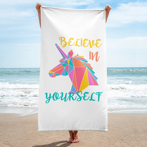 Believe in yourself Unicorn beach towel