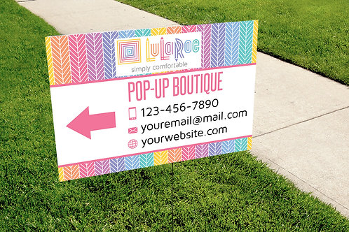 Lularoe Yard Sign - Pop-up Boutique sign - Herringbone