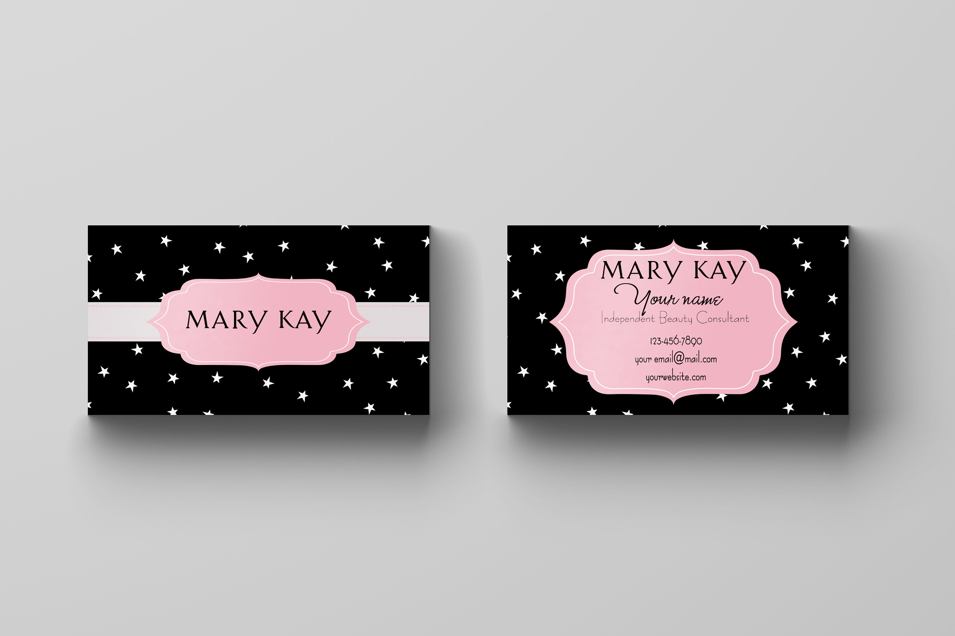 Kakao designs digital and printed marketing material direct sales high quality custom mary kay themed business cards colourmoves Gallery