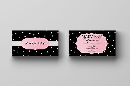 Mary Kay business card stars