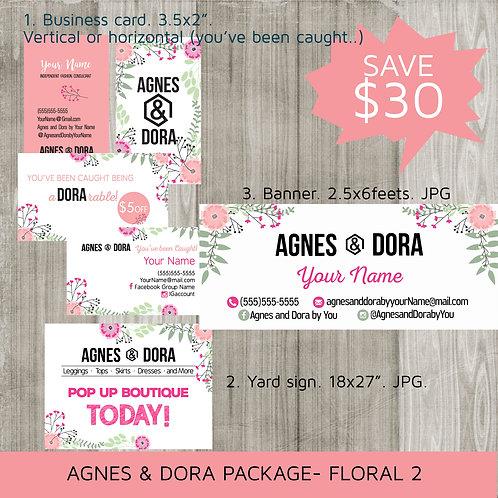 Agnes & Dora starter bundle package - Floral 02 - Digital