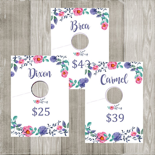 Clothing Name Rack Style Hanging Dividers - Piphany