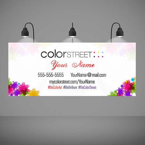 Color Street banner Custom Colorful