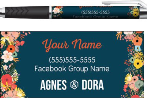 Agnes & Dora Floral business pen
