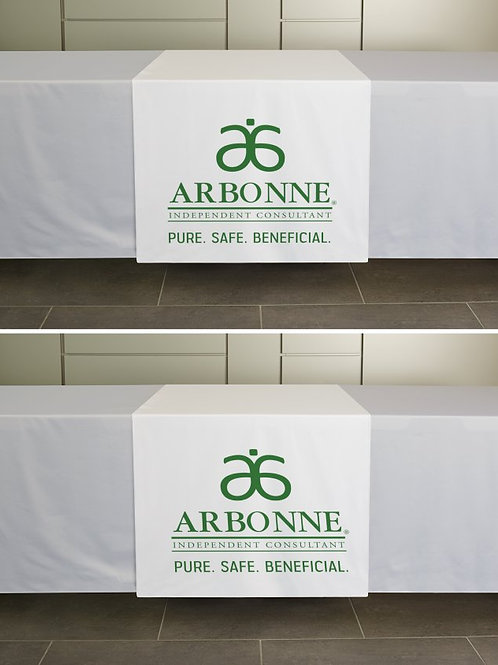 Arbonne table runner white pure safe beneficial